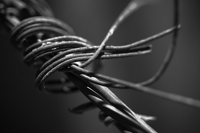 Twisted wire.