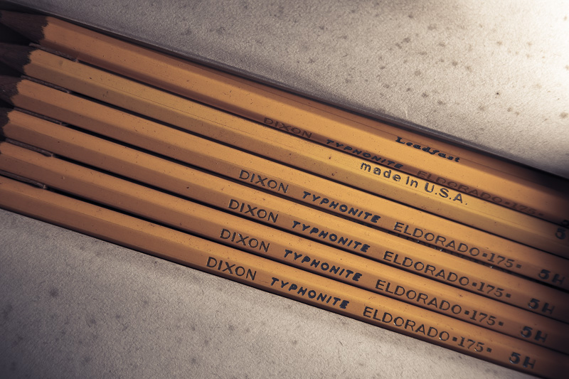 A set of Dixon Typhonite Eldorado pencils.
