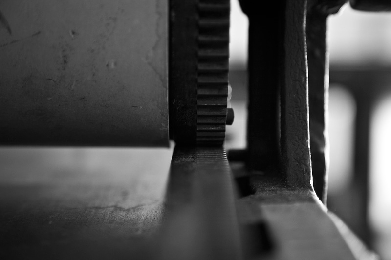 Gears of a printing press.