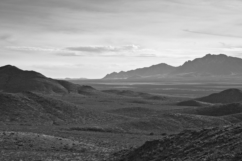 The San Simon Valley with the Chiricahua Mountains behind.