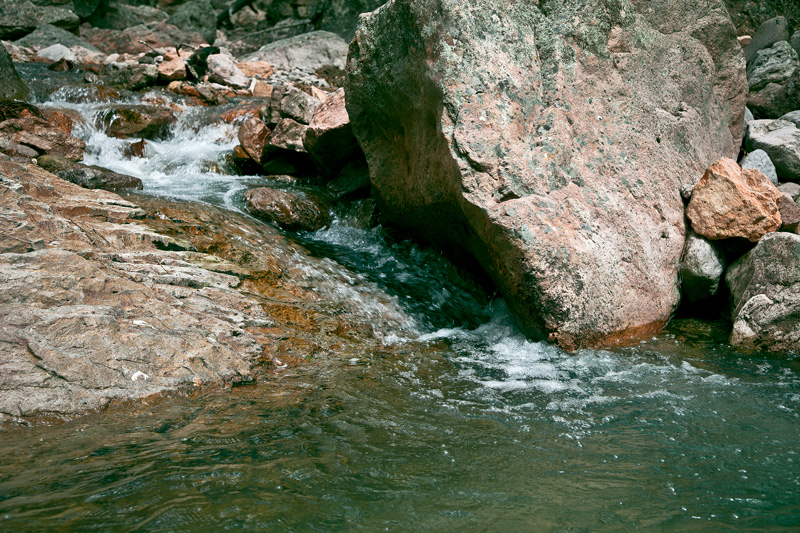 A pool of water in Rucker Creek in the Chiricahua Mountains.