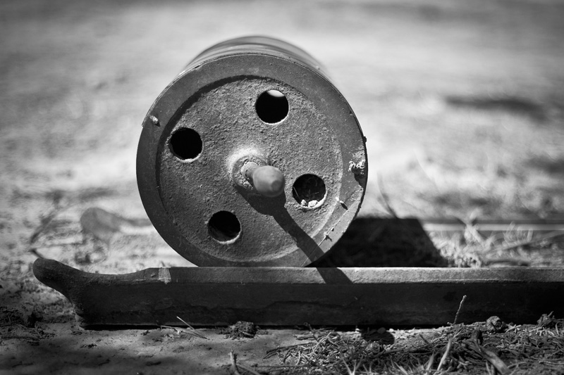 A printing press roller.