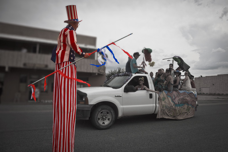 Uncle Sam at the Rodeo, New Mexico 4th of July parade.