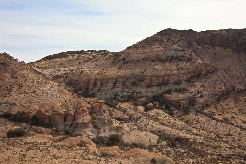A large outcrop of volcanic tuff in the Peloncillo Wilderness of Arizona.