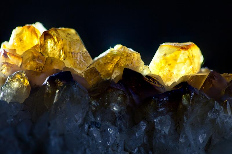 Backlit crystals.