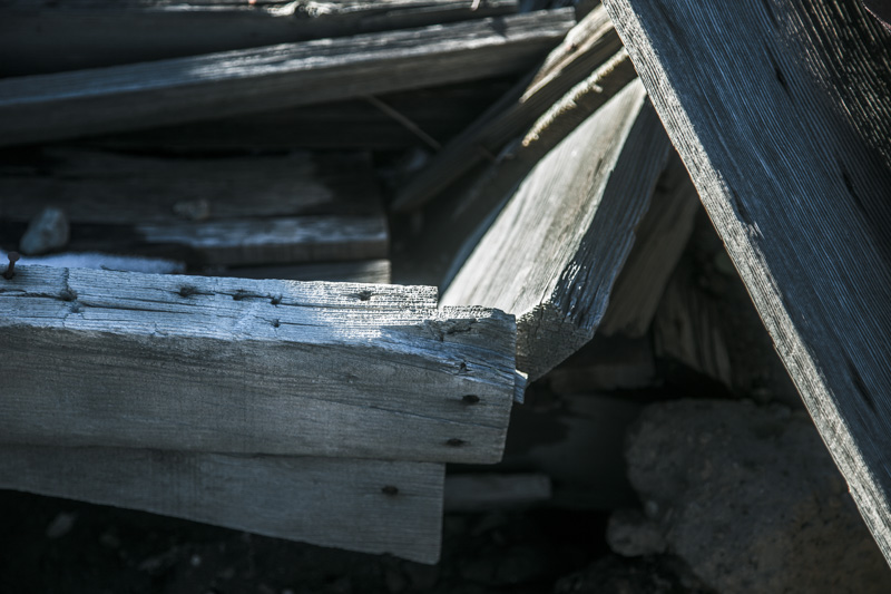 The remains of a doorframe in a collapsed house in the Dos Cabezas Wilderness.