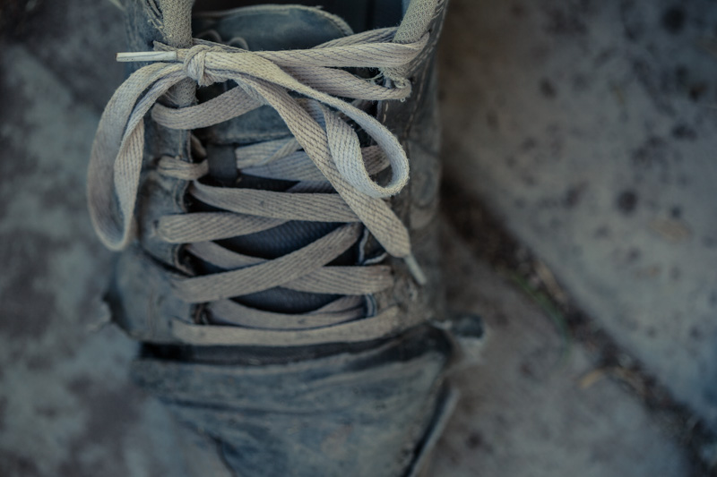 An old, worn out shoe.